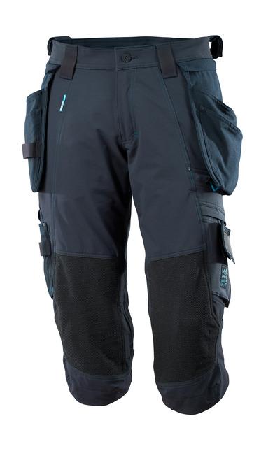 MASCOT® ADVANCED - Schwarzblau - Dreiviertel-Hose mit abnehmbaren Hängetaschen, Vier-Wege-Stretch, geringes Gewicht.