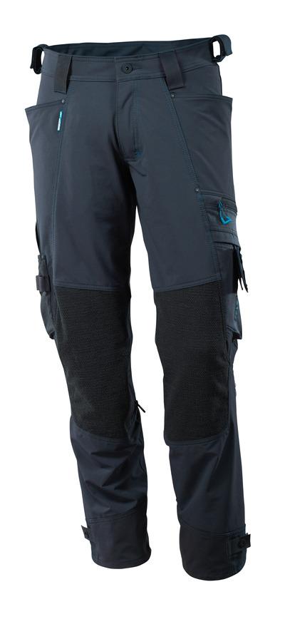 MASCOT® ADVANCED - Schwarzblau - Hose mit Knietaschen aus Kevlar®/Dyneema®, Vier-Wege-Stretch, geringes Gewicht.