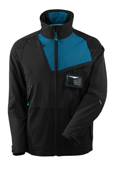 MASCOT® ADVANCED - Schwarz/Dunkelpetroleum - Jacke, Vier-Wege-Stretch, geringes Gewicht.