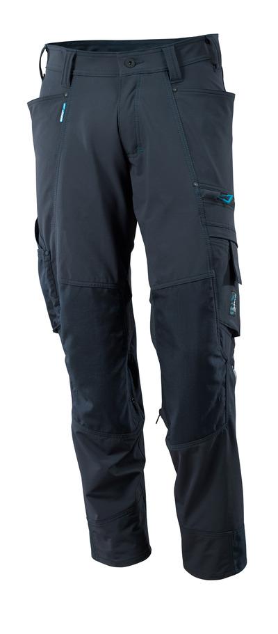MASCOT® ADVANCED - Schwarzblau - Hose mit Knietaschen, Vier-Wege-Stretch, geringes Gewicht.