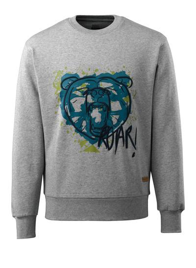MASCOT® ADVANCED - Grau-meliert - Sweatshirt mit Bärenkopf, moderne Passform