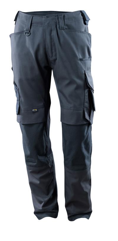 MASCOT® Adra - Schwarzblau - Hose mit CORDURA® Knietaschen, Stretch-Einsätze, hohe Strapazierfähigkeit