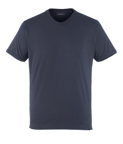 MASCOT® Algoso - Schwarzblau - T-Shirt, kleiner V-Ausschnitt, moderne Passform