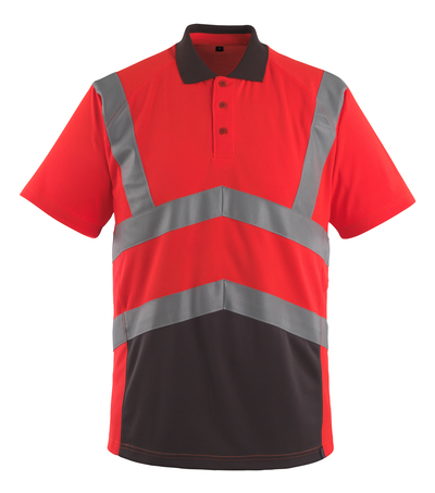 MASCOT® Anadia - hi-vis Rot/Dunkelanthrazit - Polo-Shirt, moderne Passform, Klasse 2