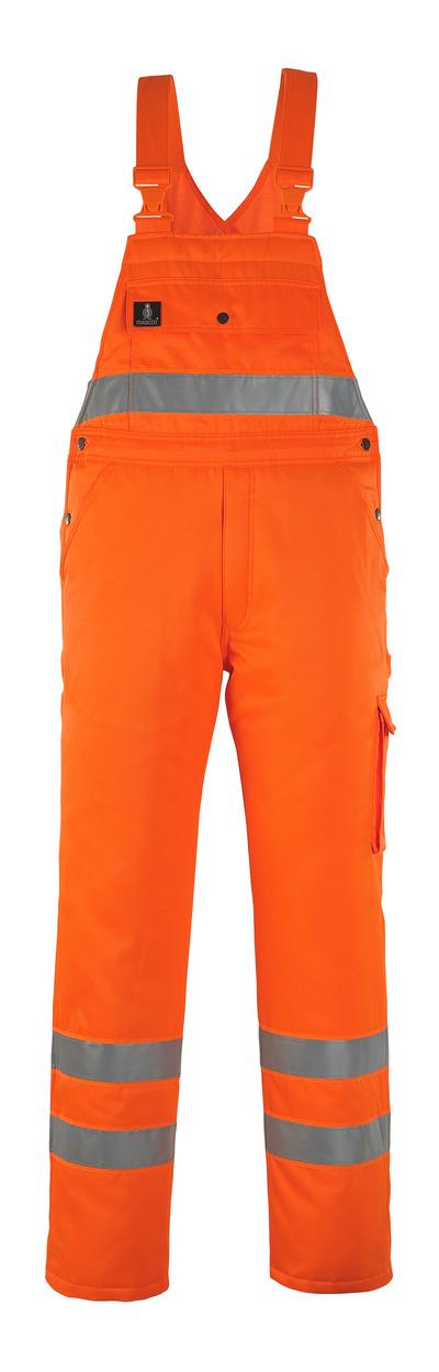 MASCOT® Antarktis - hi-vis Orange* - Winterlatzhose mit Steppfutter, wasserabweisend, Klasse 2/2