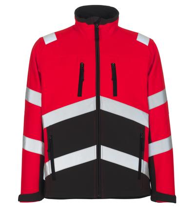 MASCOT® Antas - hi-vis Rot/Dunkelanthrazit - Soft Shell Jacke mit Fleece innen, wasserabweisend, Klasse 2