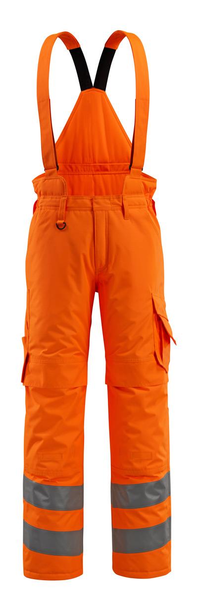 MASCOT® Ashford - hi-vis Orange - Winterhose mit Steppfutter und abnehmbaren Hosenträgern, wasserdicht