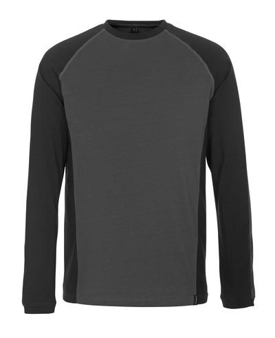 MASCOT® Bielefeld - Dunkelanthrazit/Schwarz - T-Shirt, Langarm, moderne Passform