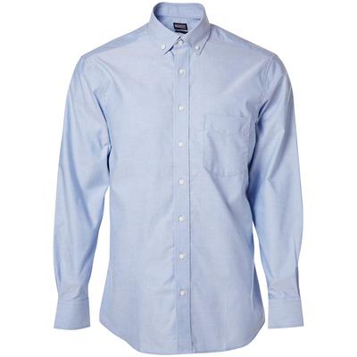 MASCOT® CROSSOVER - Hellblau - Hemd, Oxford, großzügige Passform