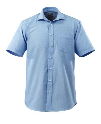 MASCOT® CROSSOVER - Hellblau - Hemd, Kurzarm, Oxford, großzügige Passform