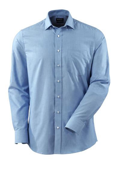 MASCOT® CROSSOVER - Hellblau - Hemd, Oxford, moderne Passform