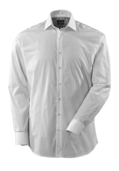 MASCOT® CROSSOVER - Weiß - Hemd, Poplin, großzügige Passform