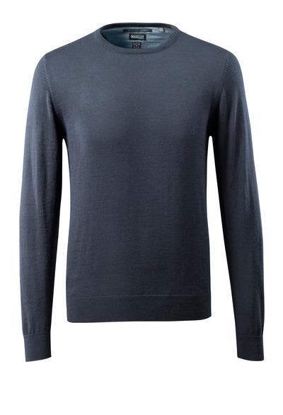 MASCOT® CROSSOVER - Schwarzblau - Strickpullover runder Halsausschnitt, mit Merinowolle.