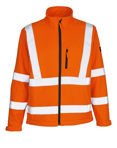 MASCOT® Calgary - hi-vis Orange - Soft Shell Jacke mit Fleece innen, Klasse 3