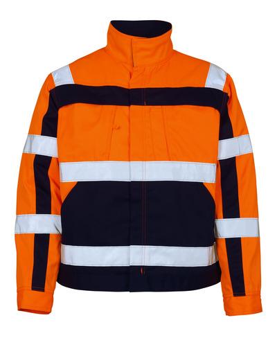 MASCOT® Cameta - hi-vis Orange/Marine - Jacke, hohe Strapazierfähigkeit, Klasse 2