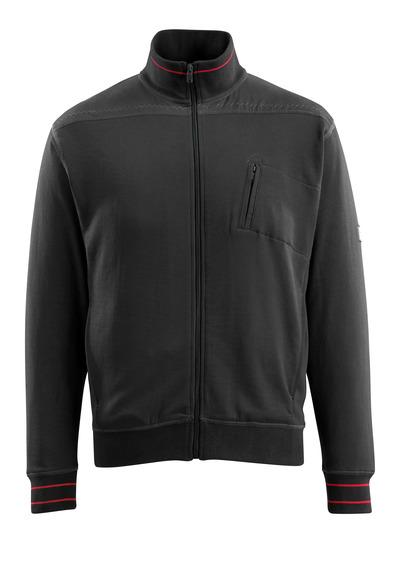 MASCOT® Chania - Schwarz - Sweatshirt mit Reißverschluss