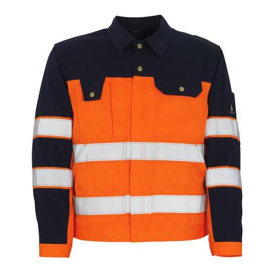MASCOT® Como - hi-vis Orange/Marine* - Jacke, hohe Strapazierfähigkeit, Klasse 2/2