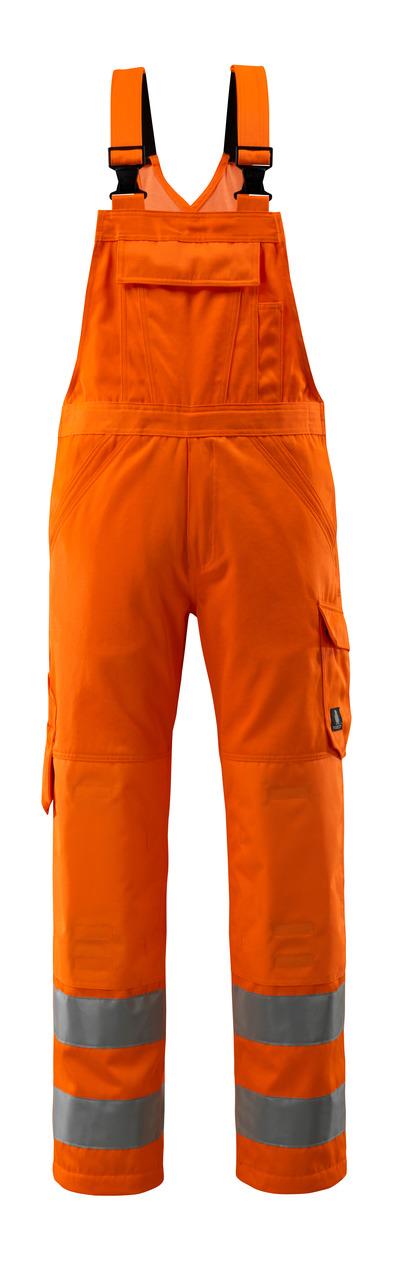 MASCOT® Devonport - hi-vis Orange - Latzhose mit Knietaschen, einfarbig, Klasse 2.