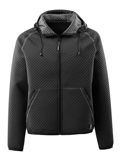 MASCOT® Dosrius - Schwarz - Kapuzensweatshirt mit Reißverschluss, Waffelstruktur, wendbar