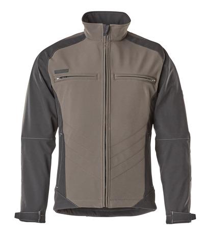 MASCOT® Dresden - Dunkelanthrazit/Schwarz - Soft Shell Jacke mit Fleece innen, wasserabweisend