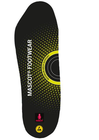 MASCOT® FOOTWEAR - Schwarz - Einlegesohlen mit Stoßabsorbierung, maximale Fußgewölbestütze