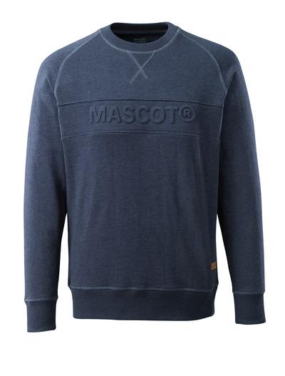MASCOT® FREESTYLE - Gewaschener dunkelblauer Denim - Sweatshirt mit MASCOT Prägung.