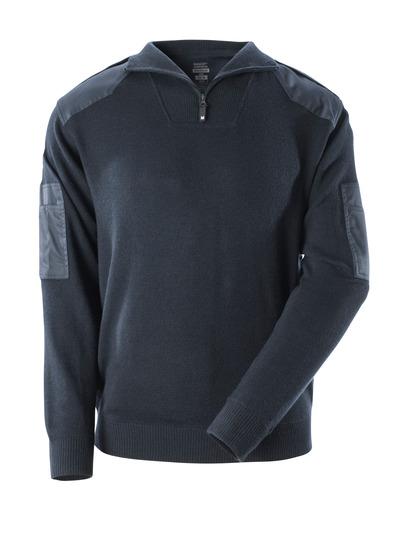 MASCOT® FRONTLINE - Schwarzblau - Strickpullover mit Verstärkungen, mit Wolle.