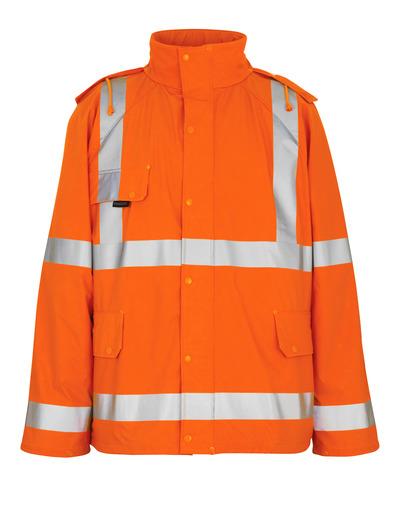 MASCOT® Feldbach - hi-vis Orange - Regenjacke, wind- und wasserdicht, Klasse 3