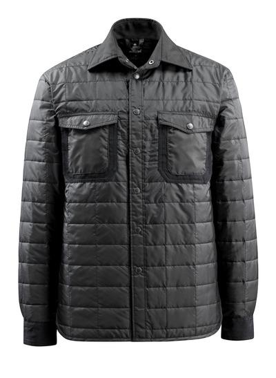 MASCOT® Fraga - Schwarz - Hemd mit Futter und Druckknöpfen