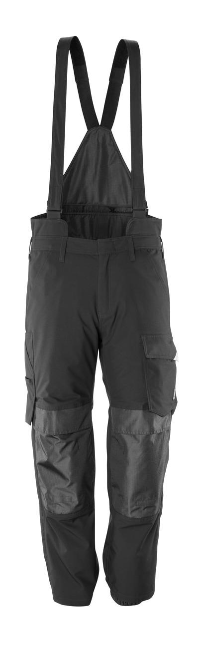 MASCOT® HARDWEAR - Schwarz - Überziehhose mit Knietaschen, wind- und wasserdicht