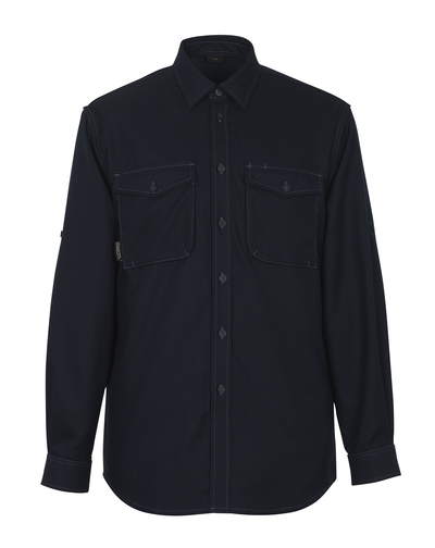 MASCOT® Hampton - Schwarzblau - Hemd, moderne Passform