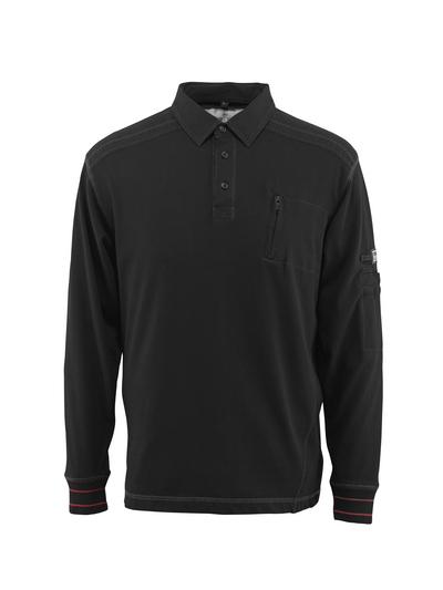 MASCOT® Ios - Schwarz - Polo-Sweatshirt mit Brusttasche, moderne Passform
