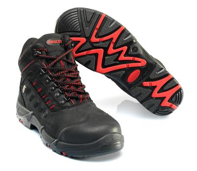 MASCOT® Kenya - Schwarz/Rot - Sicherheitsstiefel S3 mit Schnürsenkeln