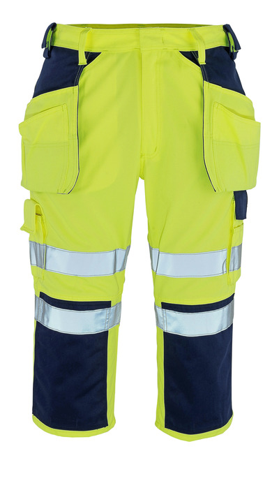 MASCOT® Lagarto - hi-vis Gelb/Marine* - Dreiviertel-Hose mit Knie- und Hängetaschen