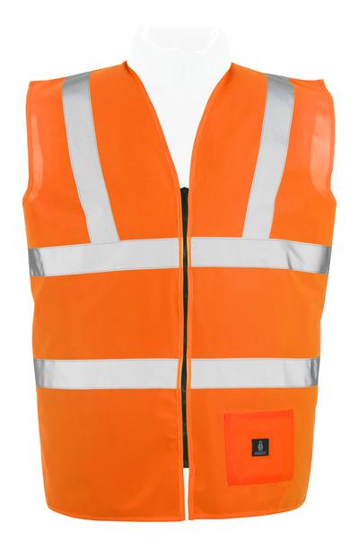 MASCOT® Lakewood - hi-vis Orange* - Warnweste mit Reißverschluss, Klasse 2