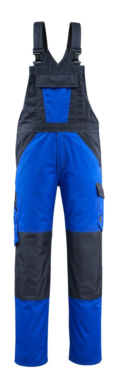 MASCOT® Leeton - Kornblau/Schwarzblau - Latzhose mit Knietaschen, geringes Gewicht