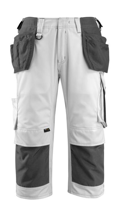MASCOT® Lindau - Weiß/Dunkelanthrazit - Dreiviertel-Hose mit CORDURA® Knie- und Hängetaschen, hohe Strapazierfähigkeit