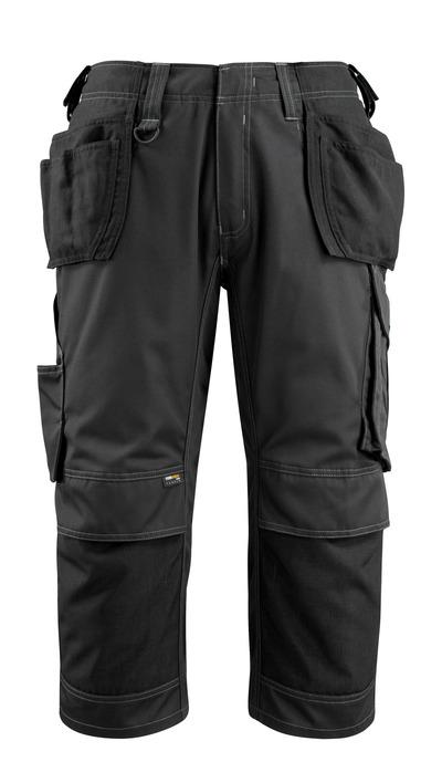 MASCOT® Lindau - Schwarz - Dreiviertel-Hose mit CORDURA® Knie- und Hängetaschen, hohe Strapazierfähigkeit