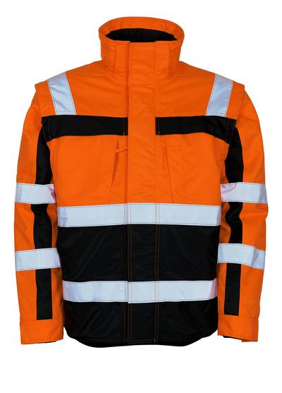 MASCOT® Loreto - hi-vis Orange/Marine - Winterjacke mit herausnehmbarer Thermojacke, wasserabweisend, Klasse 3