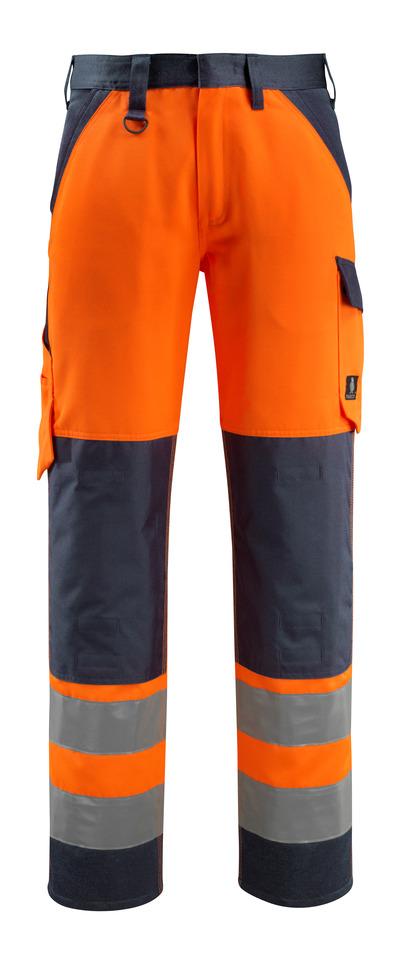 MASCOT® Maitland - hi-vis Orange/Schwarzblau - Hose mit Knietaschen, Klasse 2