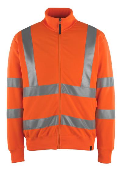 MASCOT® Maringa - hi-vis Orange - Sweatshirt mit Reißverschluss, moderne Passform, Klasse 3