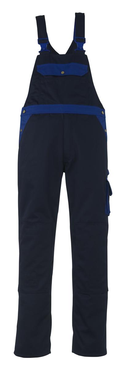 MASCOT® Milano - Marine/Kornblau - Latzhose mit Knietaschen, hohe Strapazierfähigkeit