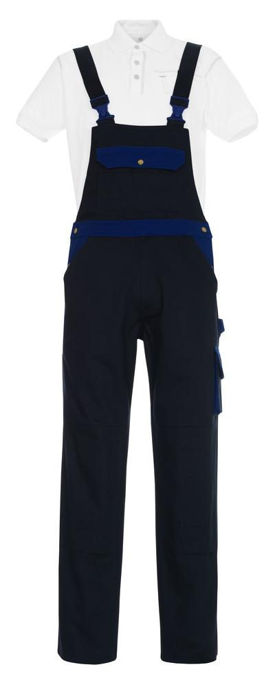 MASCOT® Monza - Marine/Kornblau - Latzhose mit Knietaschen, Baumwolle