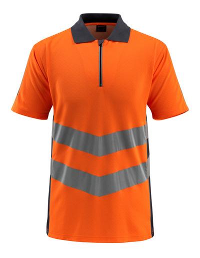MASCOT® Murton - hi-vis Orange/Schwarzblau - Polo-Shirt mit Reißverschluss, moderne Passform, Klasse 2