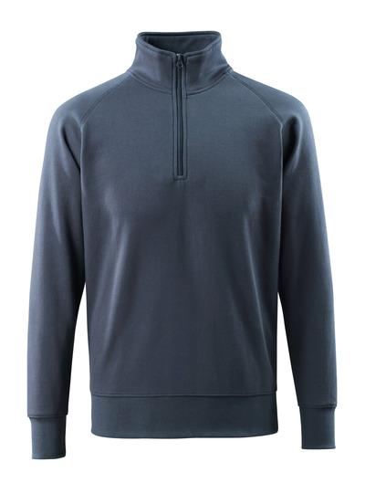 MASCOT® Nantes - Schwarzblau - Sweatshirt mit kurzem Reißverschluss, moderne Passform