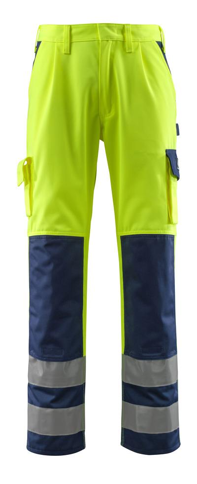 MASCOT® Olinda - hi-vis Gelb/Marine - Hose mit Knietaschen, Klasse 2
