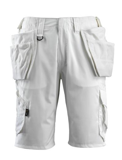 MASCOT® Olot - Weiß - Shorts mit CORDURA® Hängetaschen und Stretch-Einsätzen