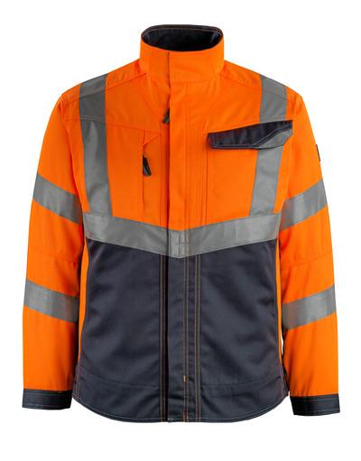 MASCOT® Oxford - hi-vis Orange/Schwarzblau - Jacke, hohe Strapazierfähigkeit, Klasse 2