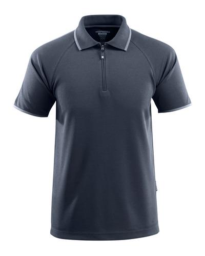 MASCOT® Palamos - Schwarzblau - Polo-Shirt mit Reißverschluss, mit temperaturregulierendem TENCEL®