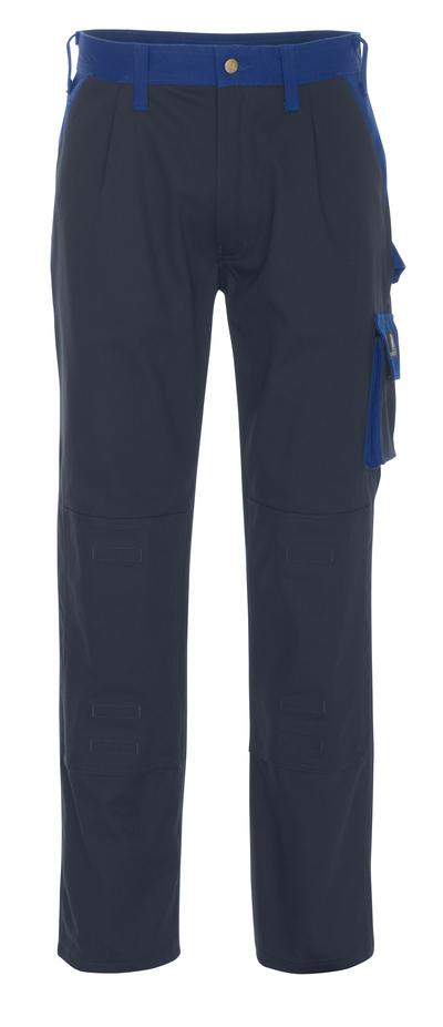 MASCOT® Palermo - Marine/Kornblau - Hose mit Knietaschen, Baumwolle